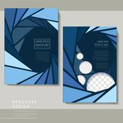 Modern poster template set Stock Illustration