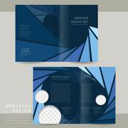 Modern half-fold brochure template Stock Illustration