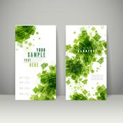abstract banner template design - stock illustration