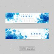 Abstract banner template design Stock Illustration
