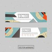 Collage style banner template design Stock Illustration