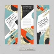 collage style banner template design - stock illustration