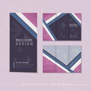 Modern tri-fold brochure template design Stock Illustration