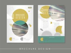 Modern abstract poster template design Stock Illustration