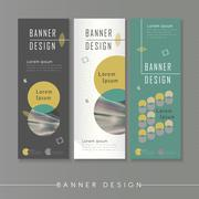 Modern abstract banner template design Stock Illustration