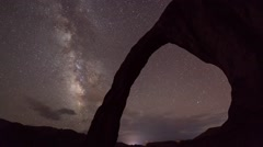 Corona Arch Milky Way Stock Footage