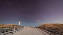 Avalon Beach, NJ Milky Way Stock Footage