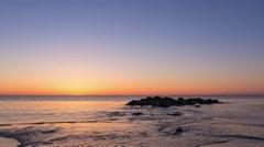 Jersey Shore Sunrise Stock Footage