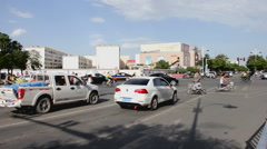 Traffic in Jiayuguan city, China (2) - stock footage