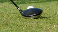 Golf ball being hit using a driver - Slow motion Stock Footage