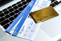 buying airline tickets - stock photo