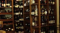 wine shop - stock footage