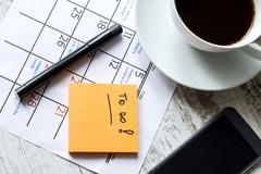 monthly activities in the calendar to do - stock photo