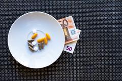 Price of medicines. Stock Photos