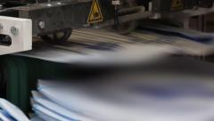 Stock Video Footage of print press typography machine in work