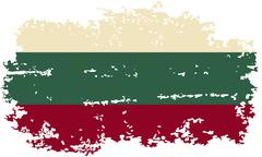 Bulgarian grunge flag. Vector illustration. - stock illustration