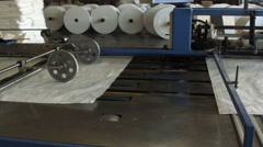Big polymeric tape roll unreel for a printing press Stock Footage