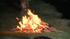 Fire in Wooden Stock Footage