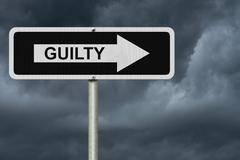 the way to being guilty - stock illustration