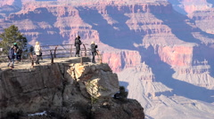 Grand Canyon people beautiful view on edge of lookout HD 108 Stock Footage