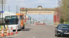 Associated british port entrance Stock Footage