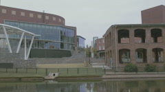 Peace Center Riverfront Stock Footage