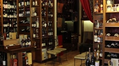 Panorama store wine - stock footage