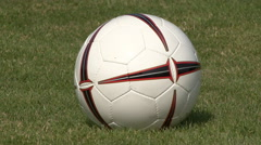 Soccer goal kick 02 Stock Footage