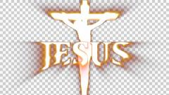 Jesus Crucifiction rendered with Alpha Channel - stock footage
