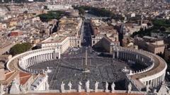 Piazza San Pietro, vatican city  Rome Stock Footage
