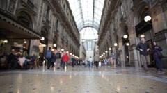 Buyer in trade Galleria Vittorio Emanuele II in Milan. Stock Footage