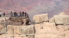 Grand Canyon tourist view on edge of beautiful lookout HD 107 Stock Footage