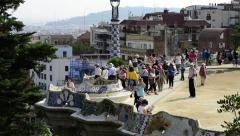 Stock Video Footage of Parc Guell Barcelona