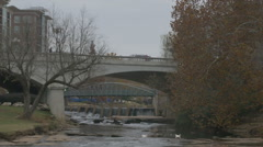 Reedy River downtown Greenville Stock Footage