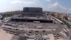 Barcelona Skyline around Sants Station Stock Footage