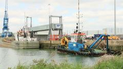 Tug and barge Stock Footage