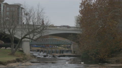 Reedy River downtown Greenville 4K Stock Footage
