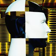 Cyborg's head Stock Illustration