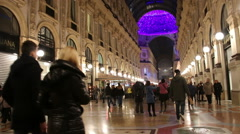 Milan, Italy - January 4, 2015 Shopping In Galleria Vittorio Emanuele - stock footage
