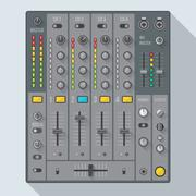 Flat style sound dj mixer illustration. Stock Illustration