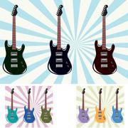 Stock Illustration of electronic guitars