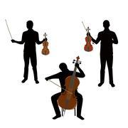 musicians - stock illustration