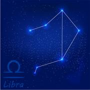 Constellation libra Stock Illustration
