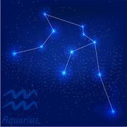 Constellationaquarius Stock Illustration