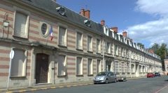 Historic buildings on Rue Philippe de la Force, Sainte-Ménehould, France. Stock Footage