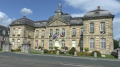 The town hall in Sainte-Ménehould, Marne, France. Stock Footage