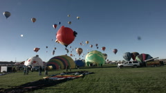 Balloon fiesta 2014 timelapse Stock Footage