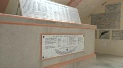 Crypt inside the Pyramid of the Ferme de Navarin, near Souain, Marne, France. Stock Footage
