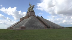 Pyramid of the Ferme de Navarin, near Souain, Marne, France. Stock Footage
