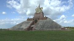 Pyramid of the Ferme de Navarin, near Souain, Marne, France. Stock Footage